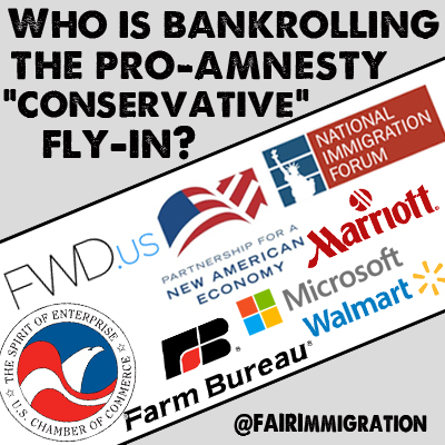 """Who is bankrolling the Pro-Amnesty """"Conservative"""" Fly-in?"""
