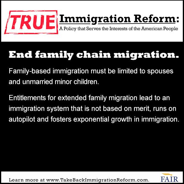 True Immigration Reform: End Chain Migration