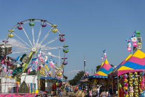 Rides, Games and Crowds of People at Minnesota State Fair