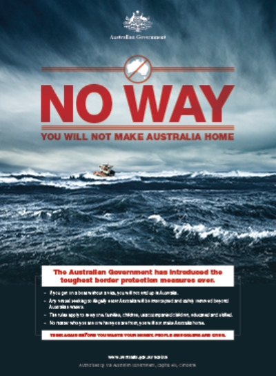 Australia-immigration-no-way-ad-poster