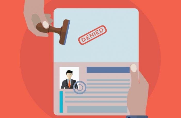 denied visa stamp