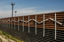 Photo of the border wall in Tijuana and San Diego